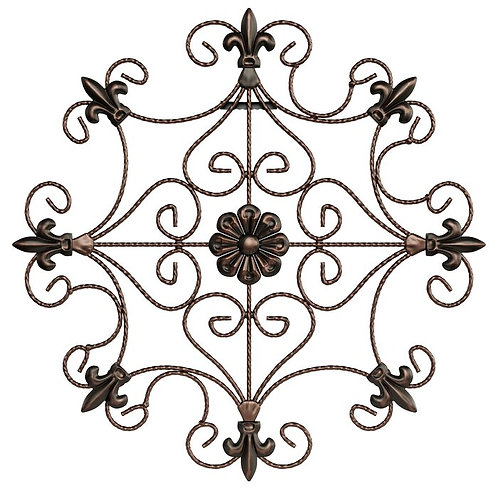 Open Edge Scrolled Metal Wall Décor
