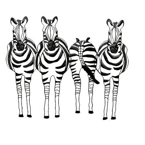 Zebra Friends - Wildlife Metal Wall Art