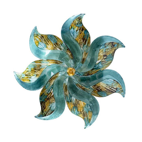 Blue Flower Metal Wall Décor
