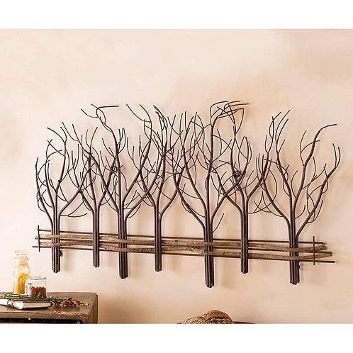 Fenceline Trees Metal Wall Décor