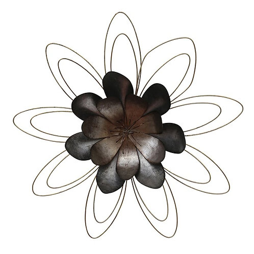 Abstract Floral Metal Wall Décor