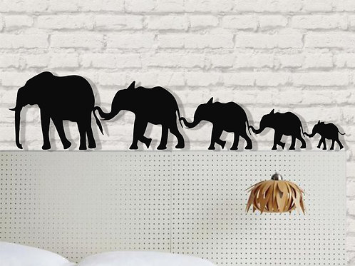 Metal Elephant Family Wall Decor