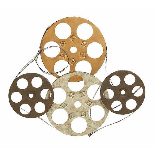 Film Reels Metal Wall Décor