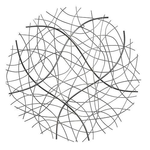 Abstract Circular Metal Wall Décor