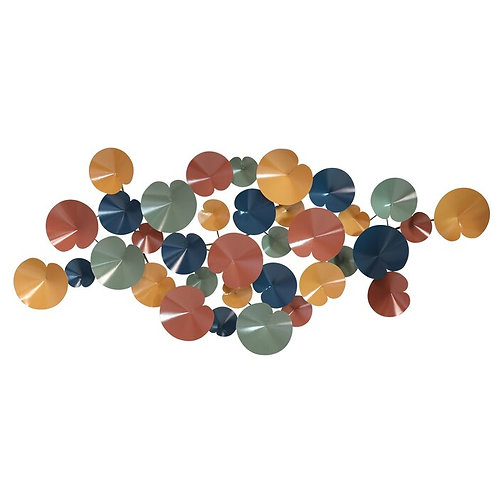 Pops of Color Abstract Metal Wall Décor