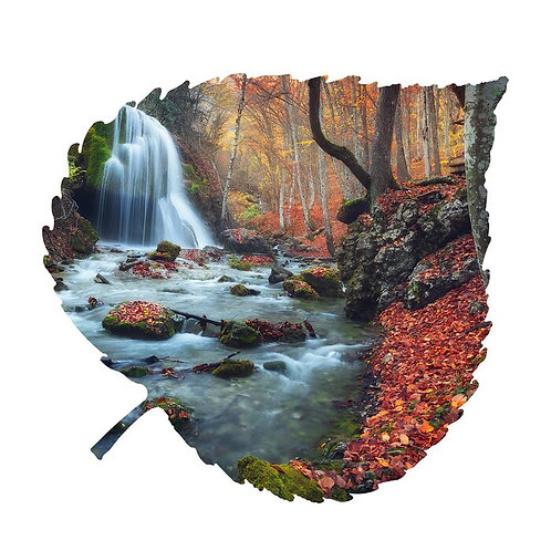 Serenity Aspen Leaf Metal Wall Décor