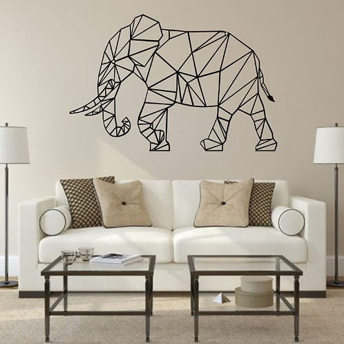 Walking Elephant Metal Wall Decor
