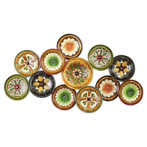 Colorful Plates Metal Wall Décor
