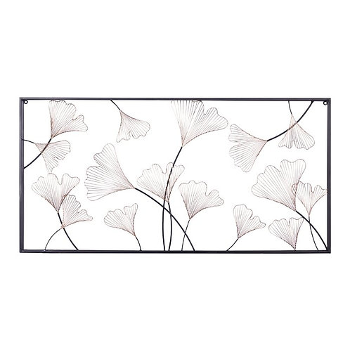 Floral Framed Metal Wall Décor
