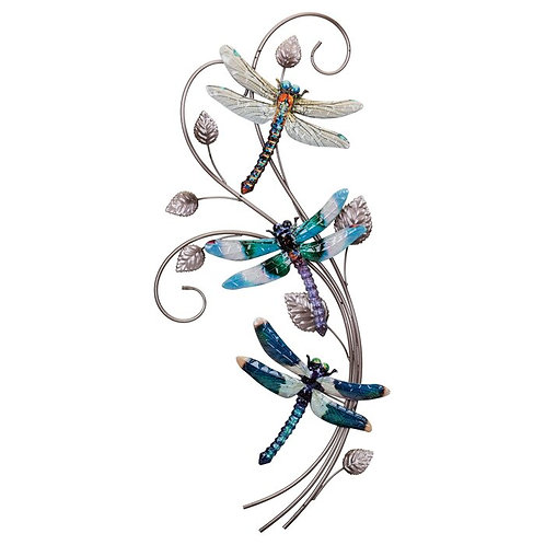 Luster 3 Dragonflies Wall Décor