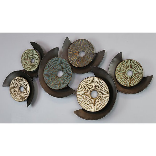 Discs With Semicircles Metal Wall Decor