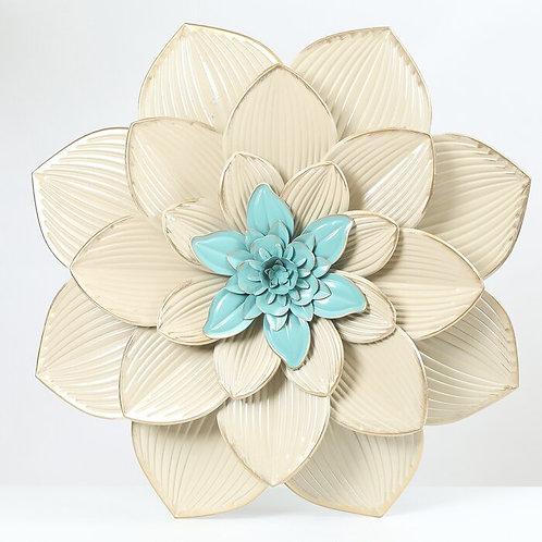 Beige Metal Flower Wall Décor