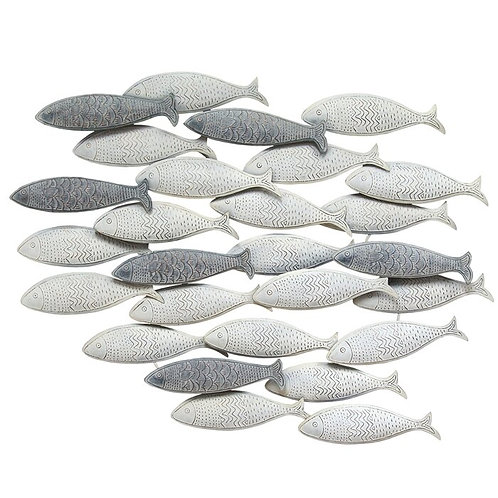 School of Fish Metal Wall Décor