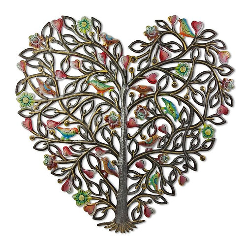Painted Heart Metal Wall Decor