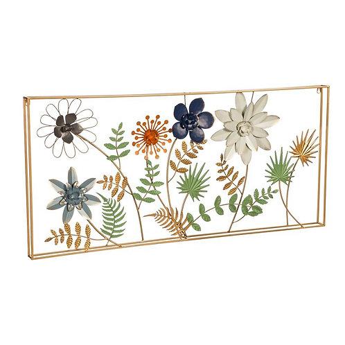 Framed Metal Flower Wall Décor