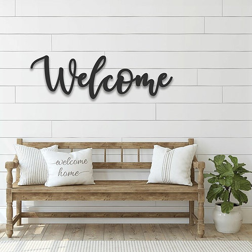 Cursive Metal Welcome Sign Wall Décor