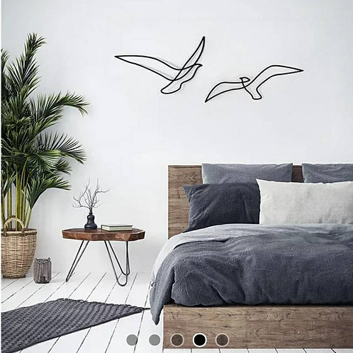 Birds in Flight Metal Wall Decor
