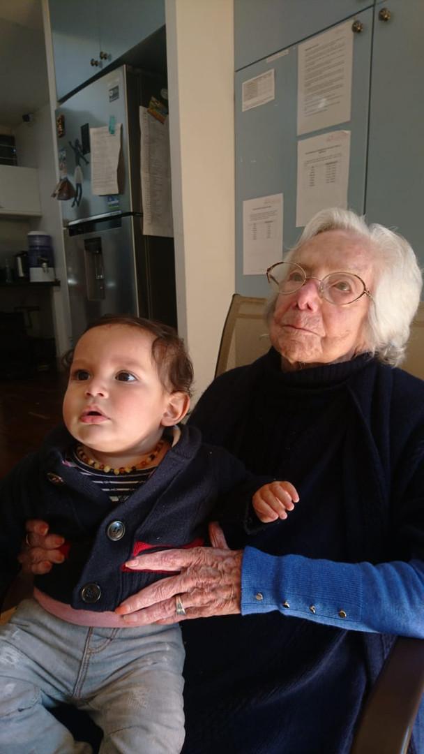 Tía Bety con Esteban