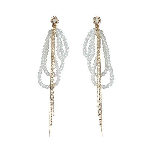 Berry Pearl Drop Earrings