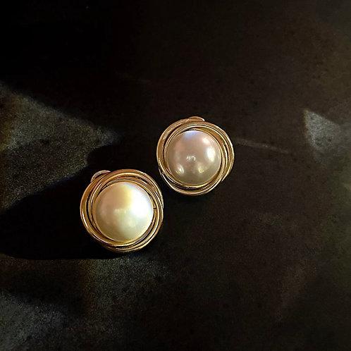 Zara Gold Studs
