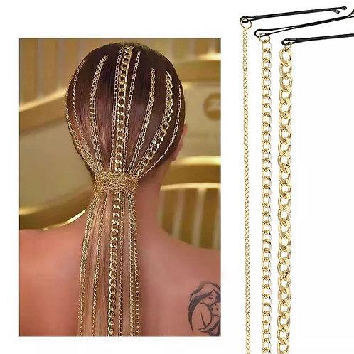 Luna Gold Hair Chain