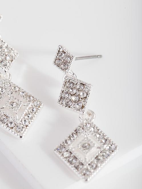 Faye Silver Drop Earrings