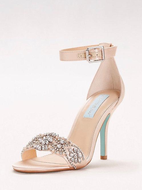 Blue by Betsey Johnson Crystal Embellished Heel