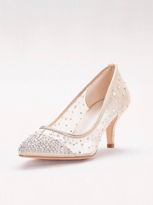 DB Ivory Mesh and Crystal Pumps