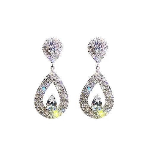 Shay Teardrop Crystal Earrings