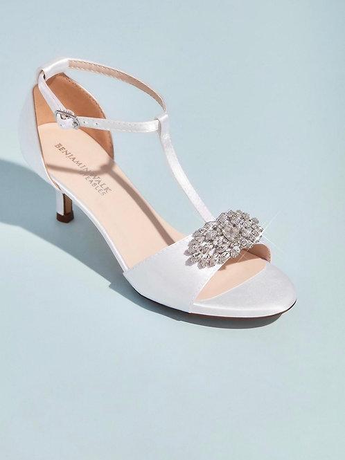 Benjamin Walk Peep-toe sandals with Crystal Embellishments