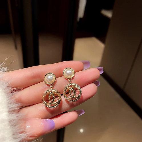 Luna Infinity Drop Earrings