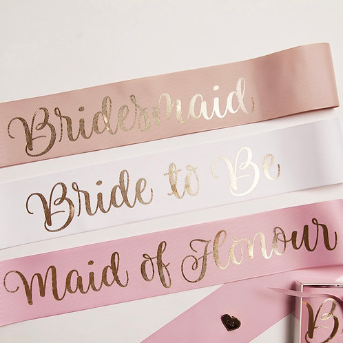 Personalised Sashes by Le Rose