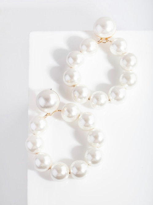 Lucy Pearl Loop Earrings