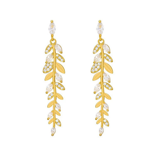 Ashanti Mini Gold Leaf Earrings
