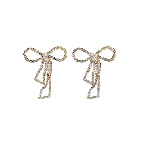 Anisa Golden Bow Earrings