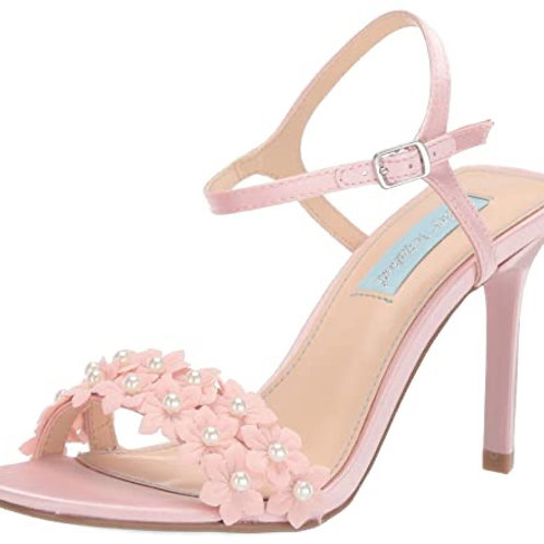 Betsey Johnson Pink Floral Sandal