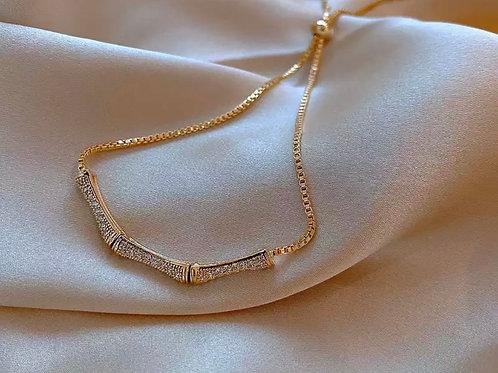 Luna Bamboo Crystal Bracelet