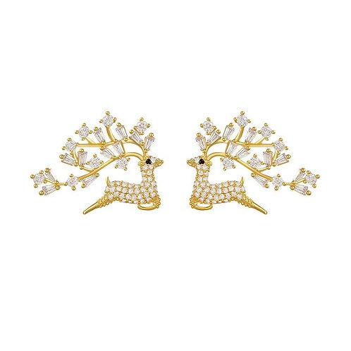 Deer mini Crystal Studs