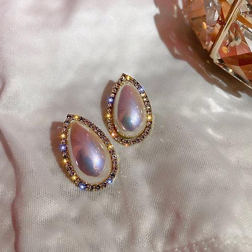 Denise Oval Crystal Studs