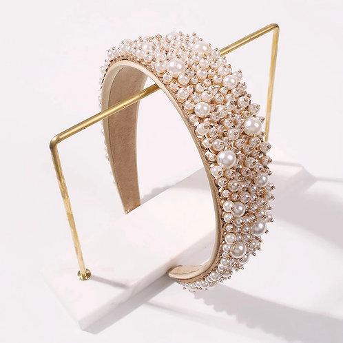 Handmade Imitation Pearl Headband