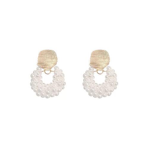Esther pearl cluster earrings