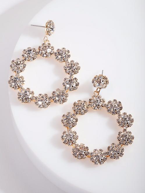 Karla Rose Gold Circle Earrings