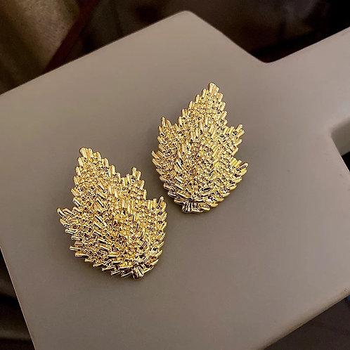 Autumn Leaf Gold Earrings