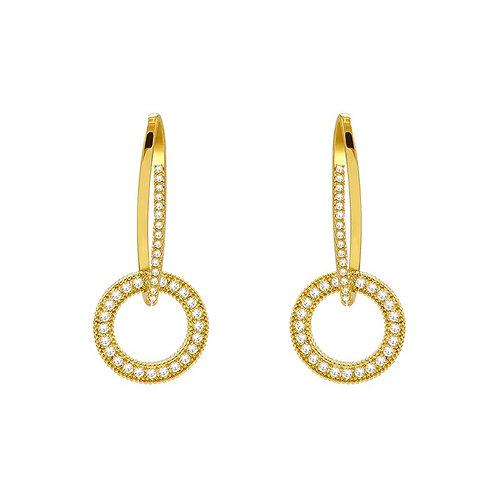 Tally Gold Drop Earrings