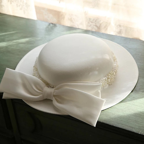 Sarai Ivory Hat with Bow