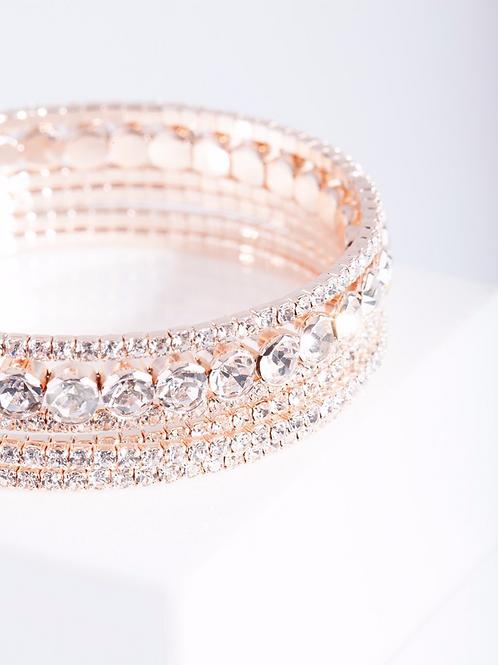 Rose Gold cuff bracelet by Luna