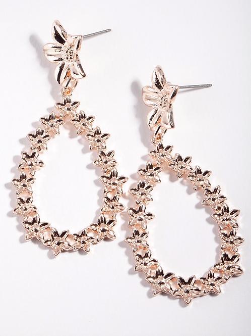 Liane Gold Circle Drop Earrings