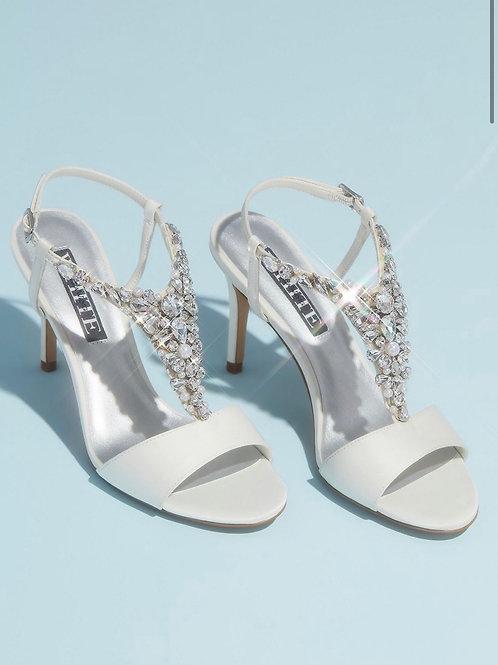 White by Vera Wang Crystal Embellished Sandal
