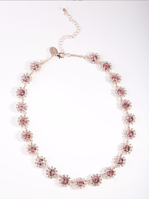 Rose Gold Halo Necklace