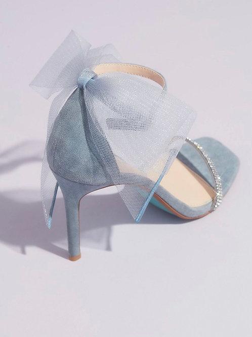 Betsy Johnson Tulle Bow Sandal